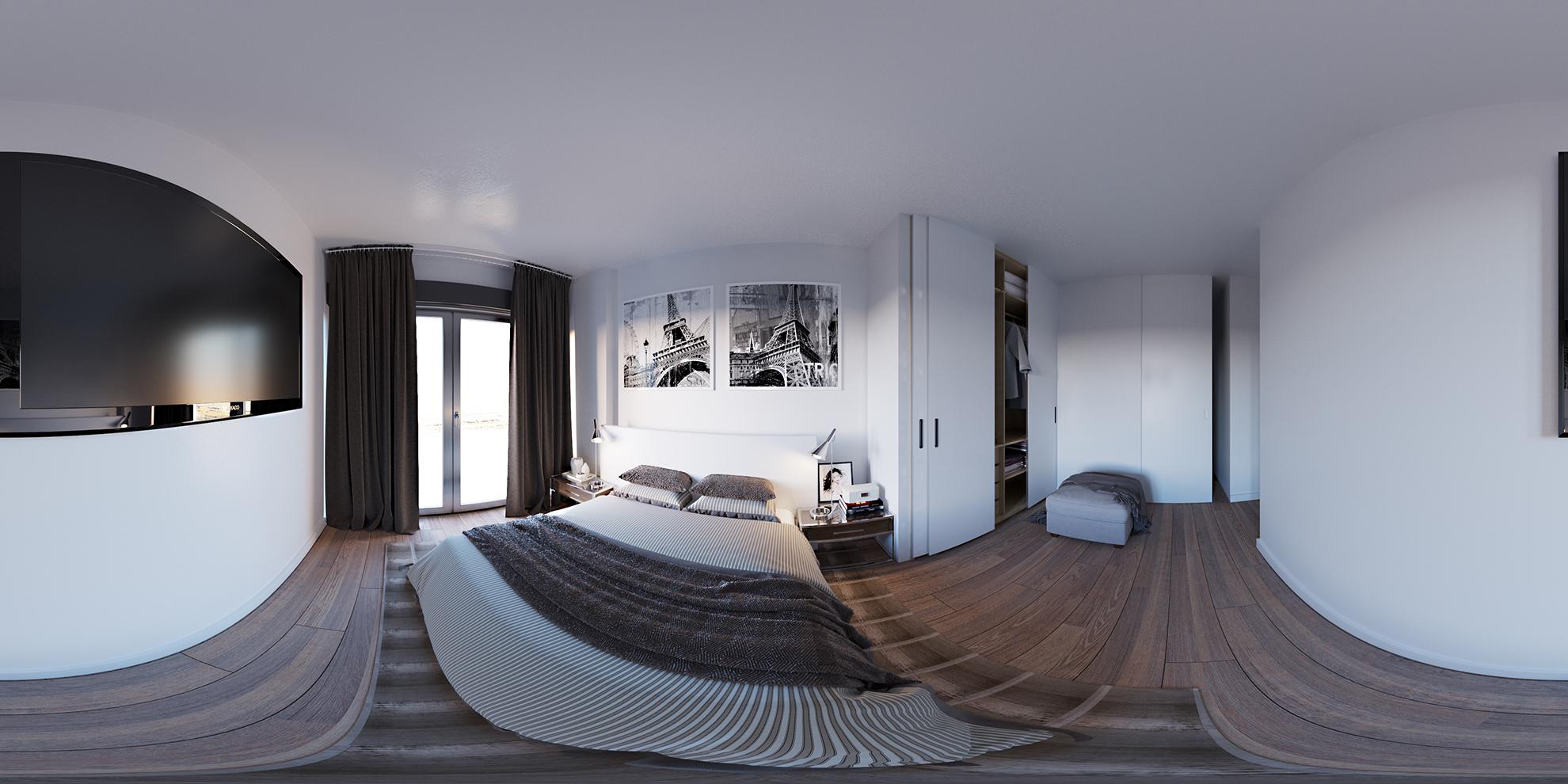 Concepto imágen 360 de habitación interior